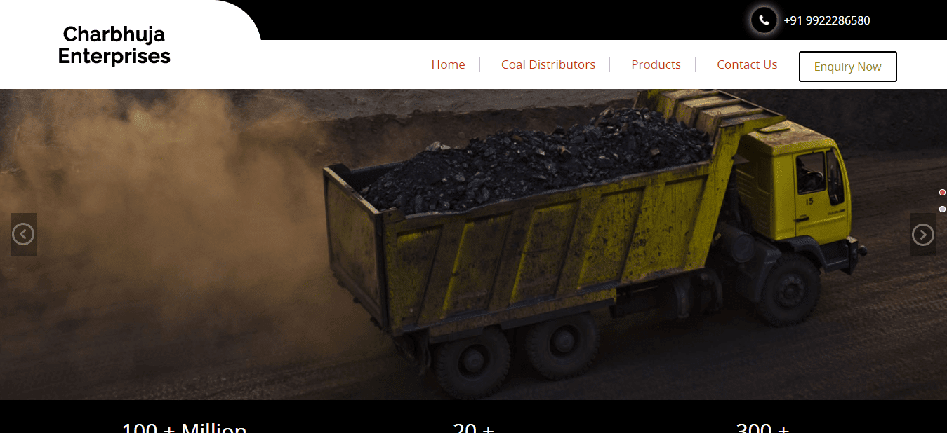 Charbhuja Enterprises Coal Distributors in India