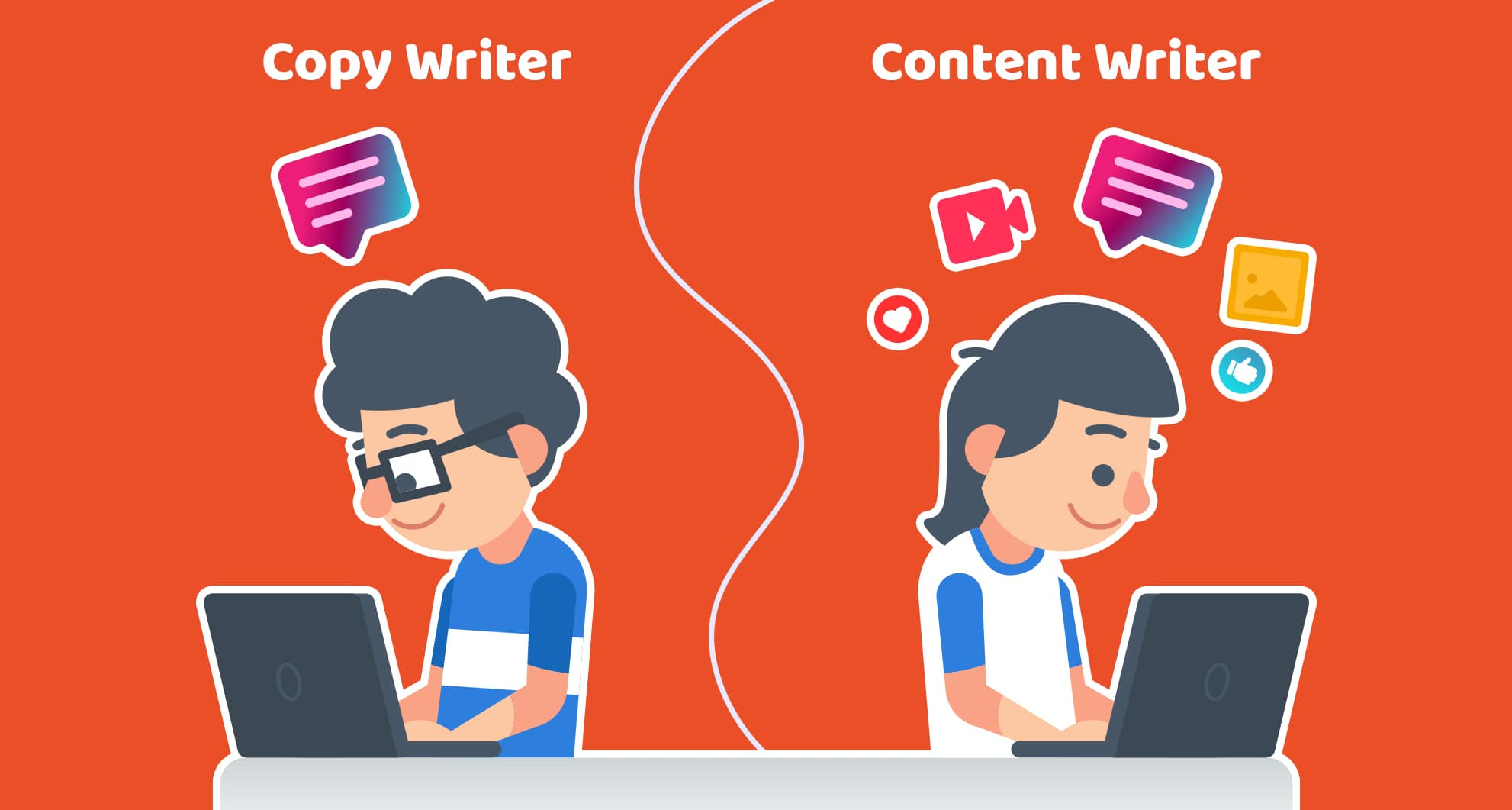 copy writing Vs Content Writing