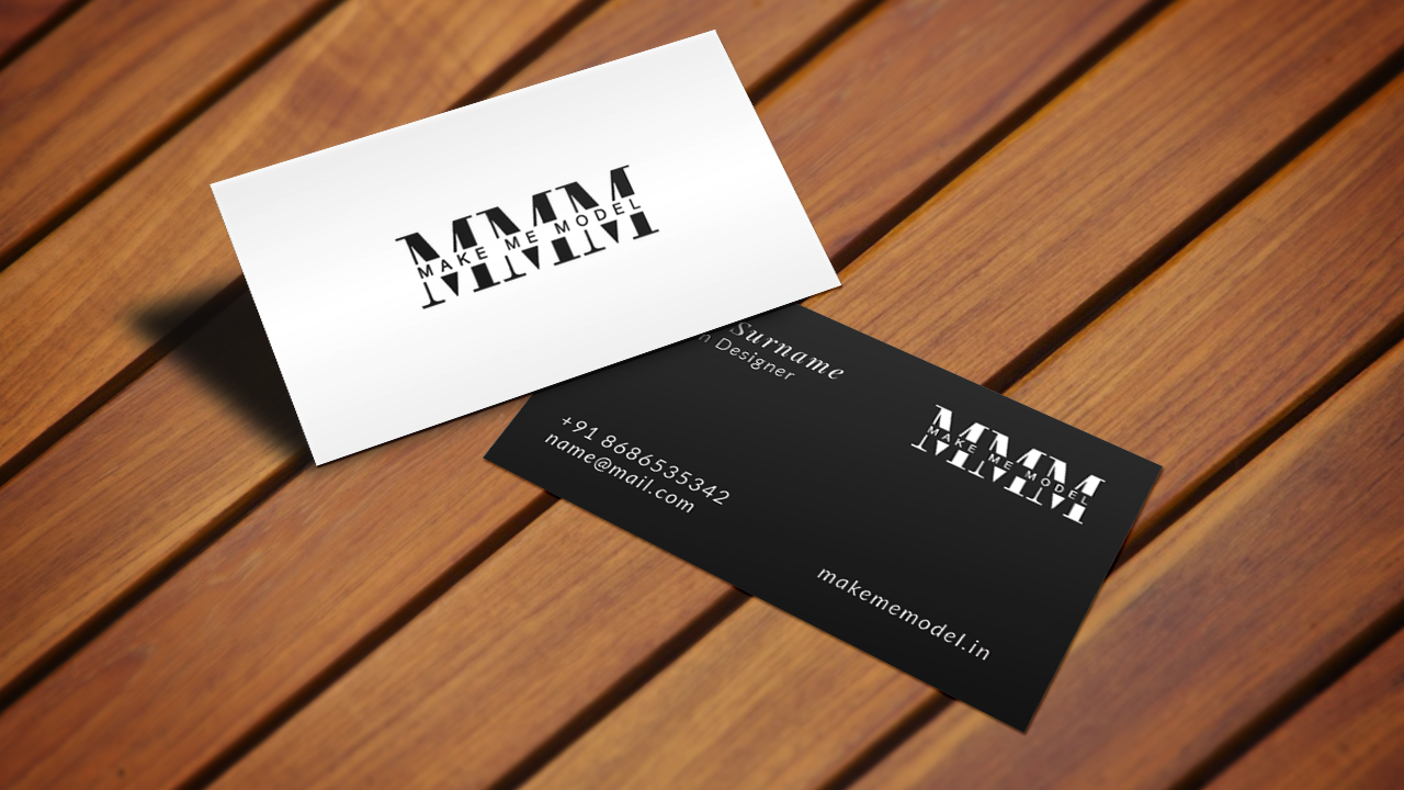 makememodel visiting card